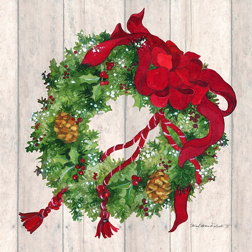 SR708LCS, Christmas Wreath, 18x18