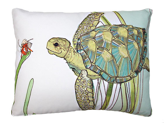 SP Pillow, Sea Turtle, RR502HP, 19x24