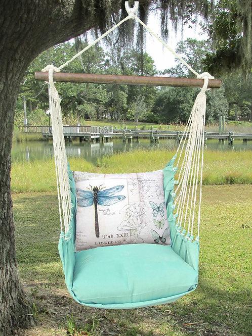 Seafoam Swing Set w/ Dragonfly Pillow, SFSW703-SP