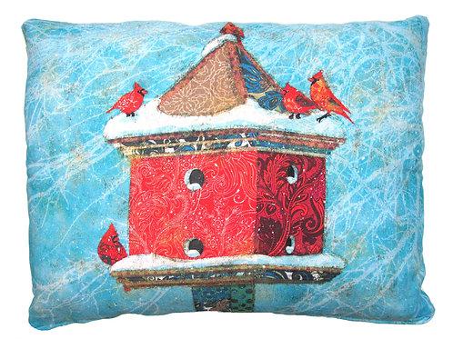 Snowy Birdhouse, TCBHSNHP, 19x24