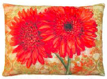 Gerbera Daisies Pillow,  TCRGP, 2 sizes