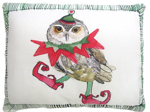 RR714HP, 19x24, Christmas Owl