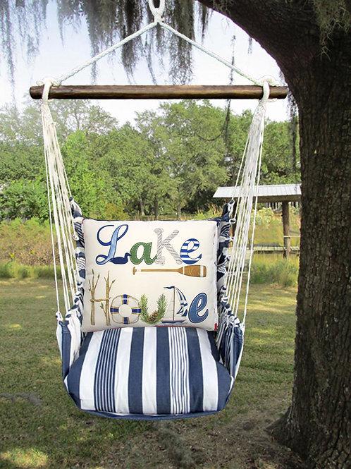 MA Swing Set w/ Lake House Pillow, MAMLT703-SP