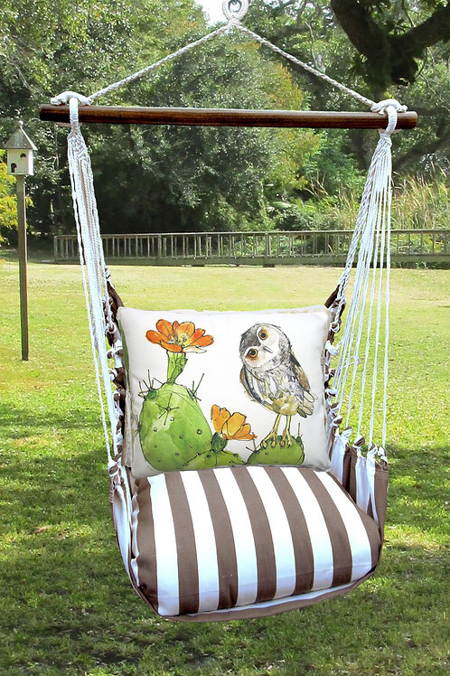 SC Swing Set w/ Owl & Cactus Pillow, SCRR713-SP