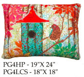 Birdhouse Pillow 4, PG4, 2 sizes