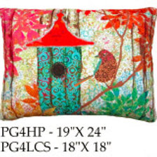 Birdhouse Pillow 4, PG4, 2 sizes