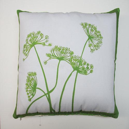 Green Flower Pillow, LHFGLCS, 18x18