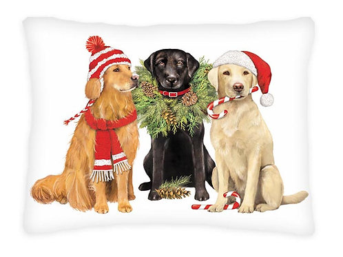 MLT604HP, 19x24, Christmas Dogs