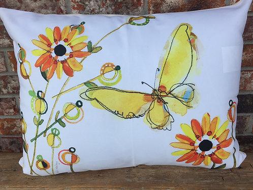 Butterfly Flower Pillow, YB1FLCS, 18x18 only