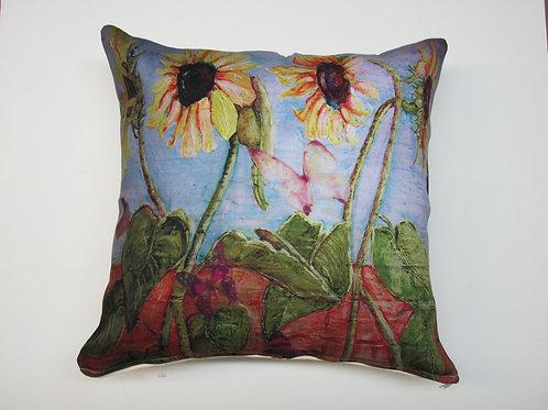 Sunflower Pillow, SNFLLCS, 18x18