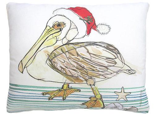 RR718HP, 19x24, Christmas Pelican