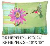 Hummingbird Pillow, RRHBPF, 2 sizes