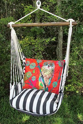 TB Swing Set w/ Red Owl Pillow, TBTCRO-SP