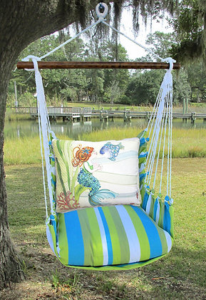 Mermaid Pillow on Beach Boulevard Fabric, BBRR702-SP