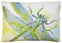 Dragonfly Pillow, LHWDF, available in 19x24 only