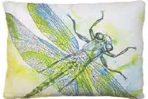 Dragonfly Pillow, LHWDF, available in 18x18 only