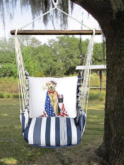 Patriotic Dog and Cat Swing Set, MAMLT805-SP