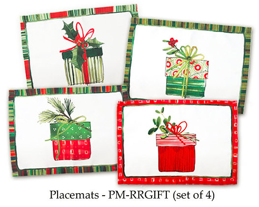 Christmas Placemats - Gifts, set of 4, PM-RRGIFT