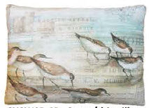SC Pillow, Seabirds, SWSBHP, 19x24