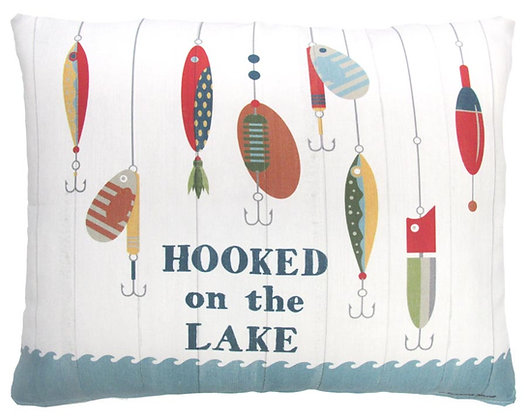 Hooked on Lake Pillow, SN901, 2 sizes available