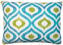 Geometric Ikat Pillow, LHIBB, 2 sizes