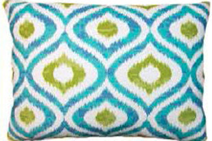 Geometric Ikat Pillow, LHIBB, 2 sizes