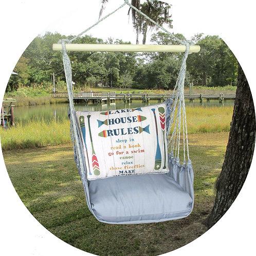 Lake Rules Swing Set w/ Gray, GRSN801-SP