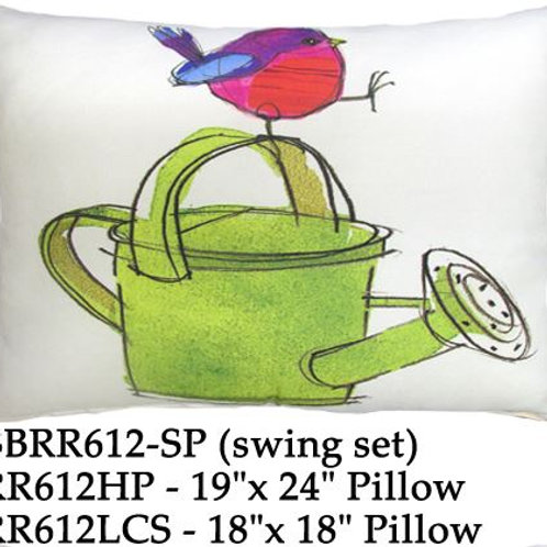 Bird on Watering Can, RR612, 2 sizes