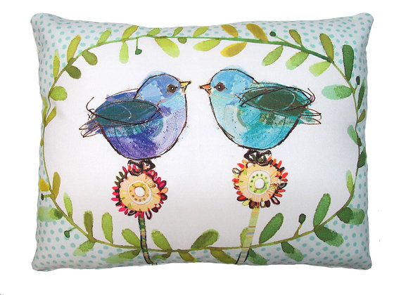 Lovebirds Pillow, RR503, 2 sizes