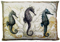 SC Pillow, Seahorses, SEALCS, 18x18