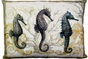 Seahorses Pillow, SEA, 2 sizes