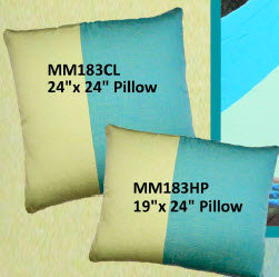 Meadow Mist Fabric Pillow, MM183CL, 24x24