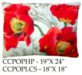 Poppies Pillow, CCPOP, 2 sizes