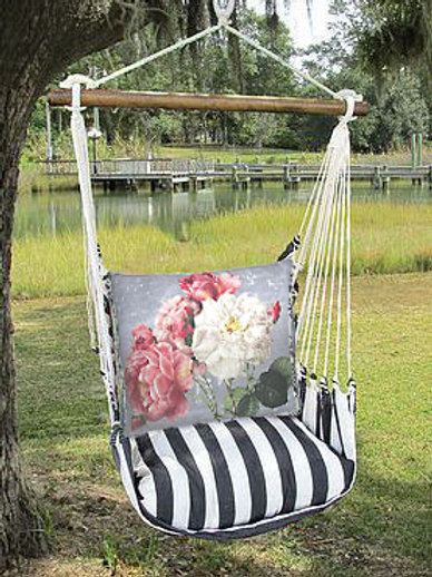 Pink and White Roses Swing Set, TBTC203-SP