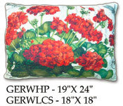 Red Geranium Pillow, GERW, 2 sizes