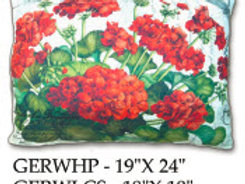 Red Geranium Pillow, GERW, 2 sizes