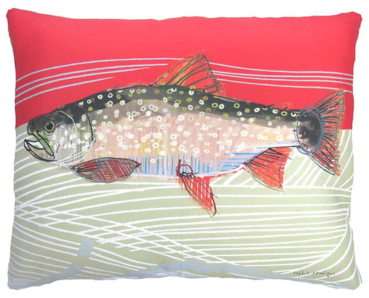 Trout 1 Pillow, RR901, 2 sizes available
