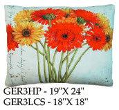 Gerberas 3 Pillow, GER3, 2 sizes