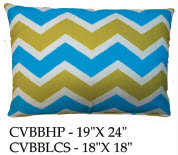 Chevron Pillow, CVBB, 2 sizes