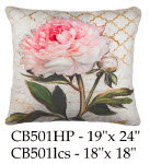 Pink Flower Pillow, CB502, 2 sizes