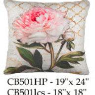 Pink Flower Pillow, CB501, 2 sizes