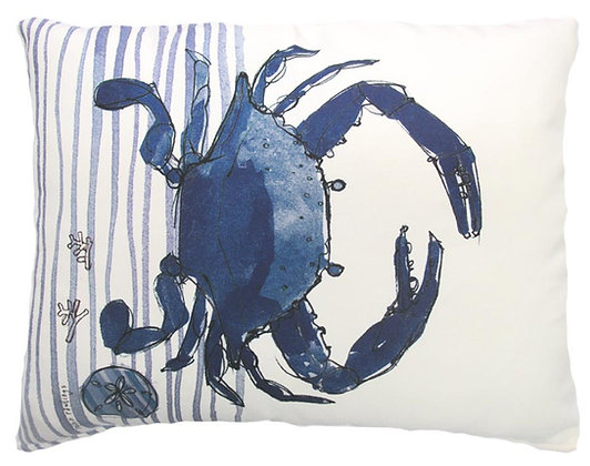 Crab Pillow, RR915, 2 sizes available