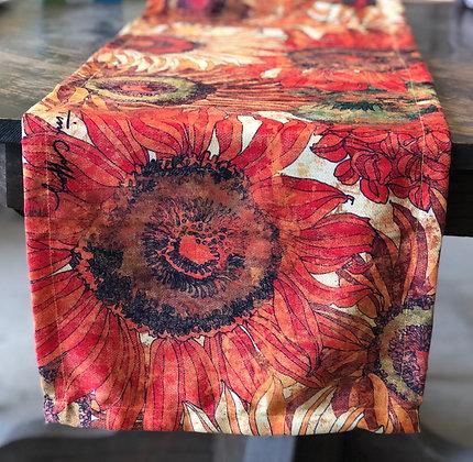"""Fall Flowers Table Runner, TC805RNR, 14""""x60"""""""