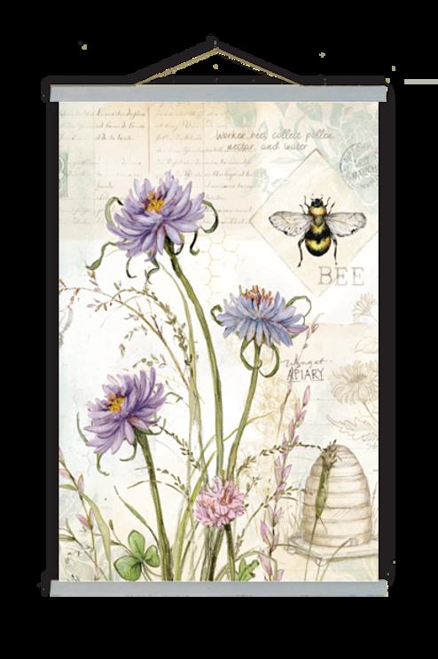 Botanical Bee Wall Art, SW204, 2 sizes