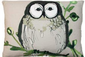 SP Pillow, Owl, RROGBLCS, 18x18