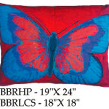 Red Butterfly Pillow, BBR, 2 sizes