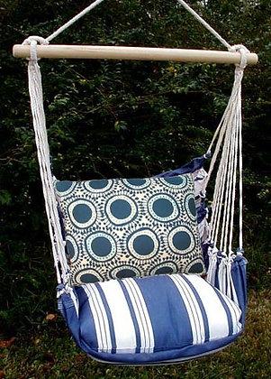 MA Swing Set w/ Navy Circles Pillow, MARRFOLCB-SP