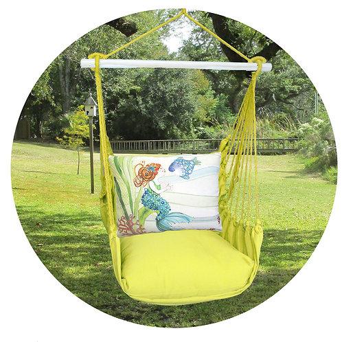 Lime Swing Set w/ Mermaid Pillow, LMRR702-SP