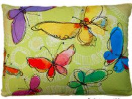 LJ Pillow, Butterflies, RRWBLCS, 18x18