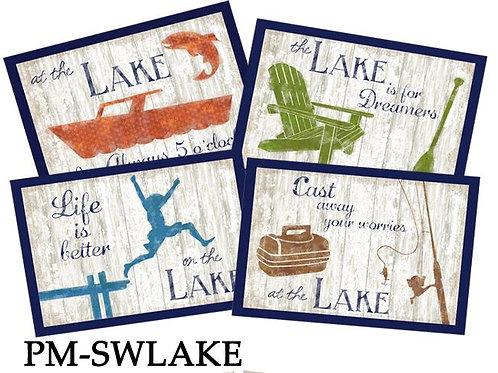 Placemats - Lake, set of 4, PM-SWLAKE